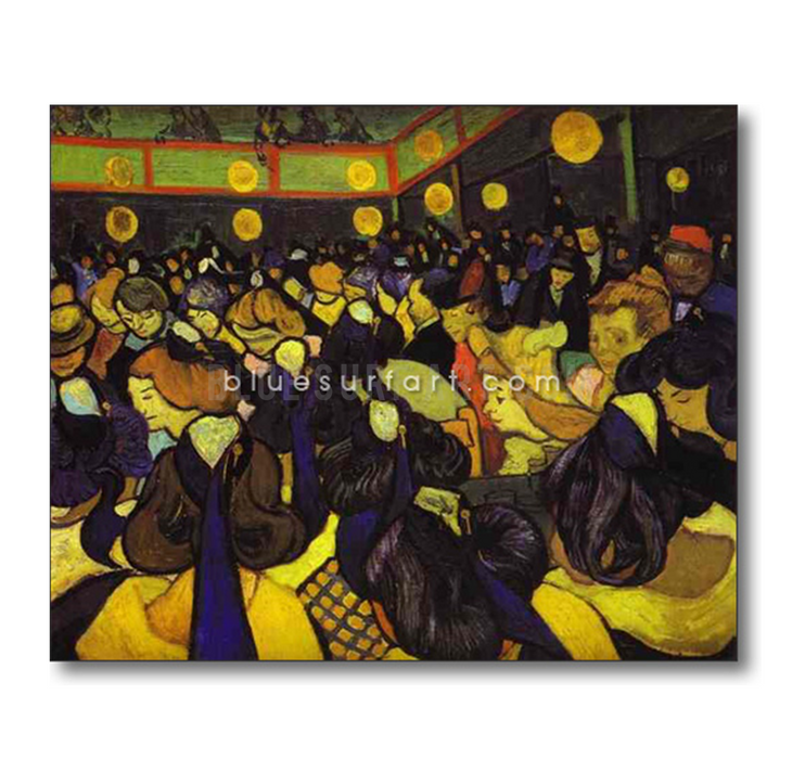 The Dance Hall at Arles Reproduction in Oil Painting on Canvas by Blue Surf Art 1