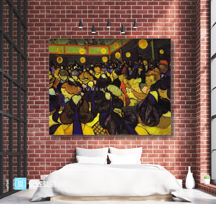 The Dance Hall at Arles Reproduction in Oil Painting on Canvas by Blue Surf Art 4