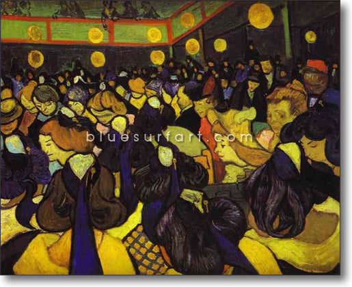 The Dance Hall at Arles Reproduction in Oil Painting on Canvas by Blue Surf Art
