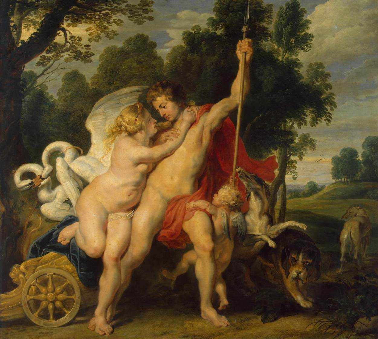 Venus and Adonis by Peter Paul Rubens Reproduction Oil Painting on Canvas