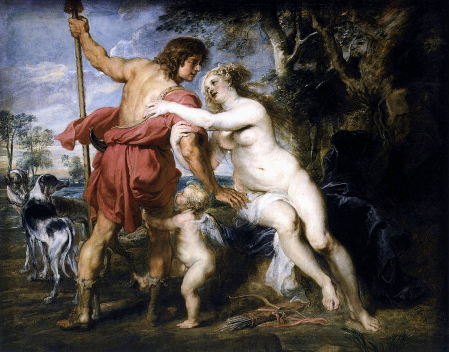 Venus und Adonis by Peter Paul Rubens Reproduction Oil Painting on Canvas
