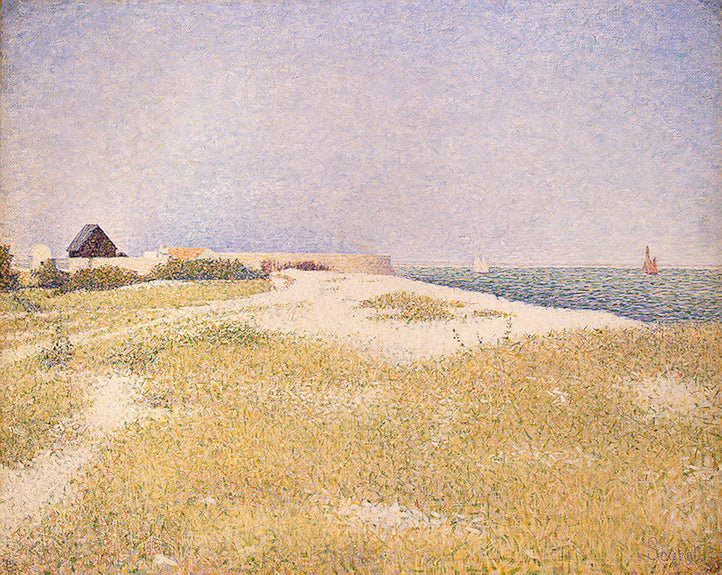View of Fort Samson by Georges Seurat Reproduction Painting by Blue Surf Art