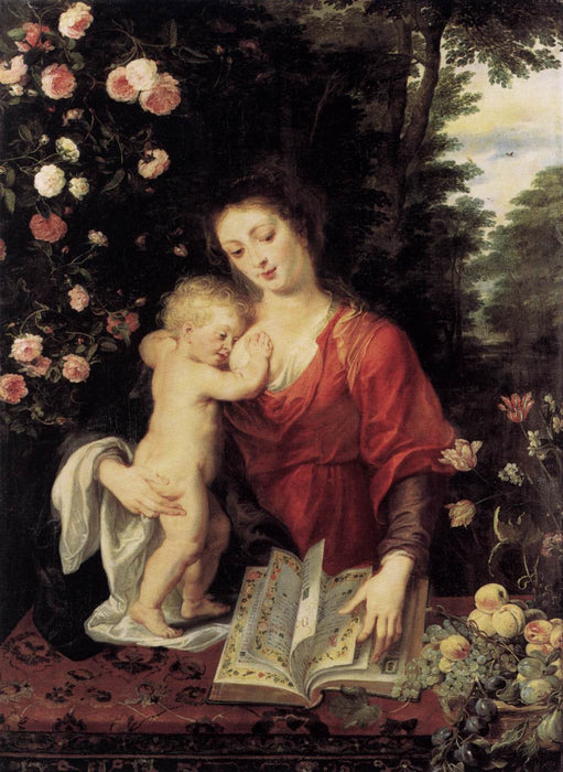 Virgin and Child by Peter Paul Rubens Reproduction Oil Painting on Canvas
