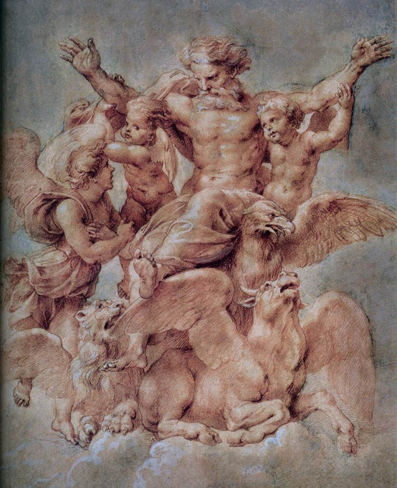 Vision of Ezekiel by Peter Paul Rubens Reproduction Oil Painting on Canvas