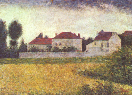 White Houses, Ville d'Avray by Georges Seurat Reproduction Painting by Blue Surf Art