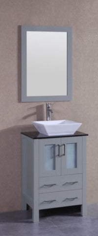 "Image of 24"" Bosconi AGR124SQBG Single Vanity"