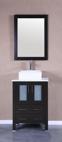 "Image of 24"" Bosconi AB124CBEPS Single Vanity"