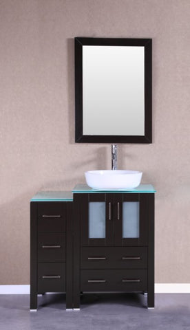 "Image of 36"" Bosconi AB124BWLCWG1S Single Vanity"