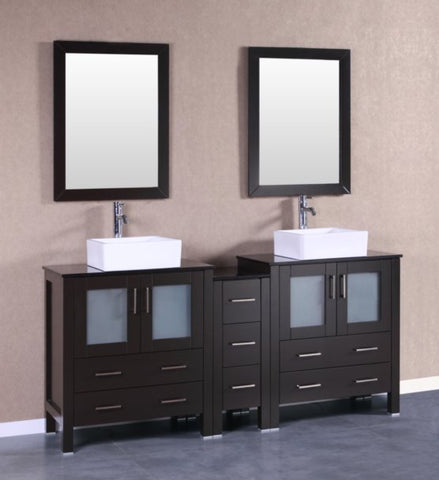 "Image of 72"" Bosconi AB230CBEBG1S Double Vanity"