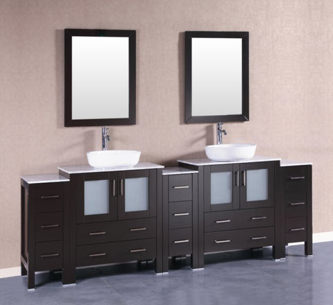 "Image of 96"" Bosconi AB230BWLCM3S Double Vanity"