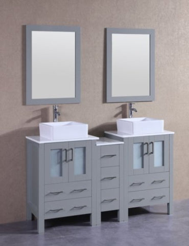 "Image of 60"" Bosconi AGR224CBEPS1S Double Vanity"