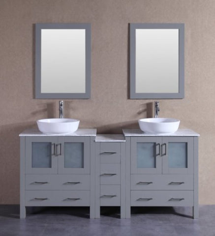 "Image of 72"" Bosconi AGR230BWLCM1S Double Vanity"