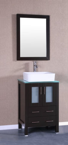 "Image of 24"" Bosconi AB124RCCWG Single Vanity"