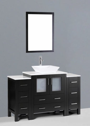 "Image of 54"" Bosconi AB130S2S Single Vanity"