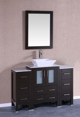 "Image of 48"" Bosconi AB124SQCM2S Single Vanity"