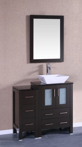 "Image of 36"" Bosconi AB124SQBG1S Single Vanity"