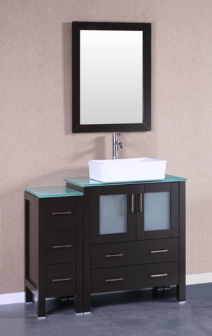 "Image of 42"" Bosconi AB130RCCWG1S Single Vanity"