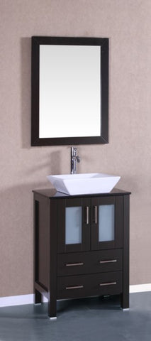 "Image of 24"" Bosconi AB124SQBG Single Vanity"