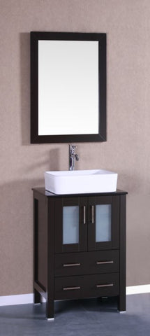 "Image of 24"" Bosconi AB124RCBG Single Vanity"