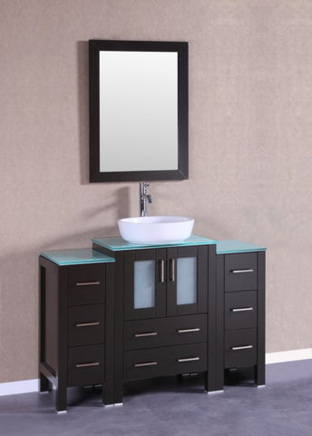 "Image of 48"" Bosconi AB124BWLCWG2S Single Vanity"