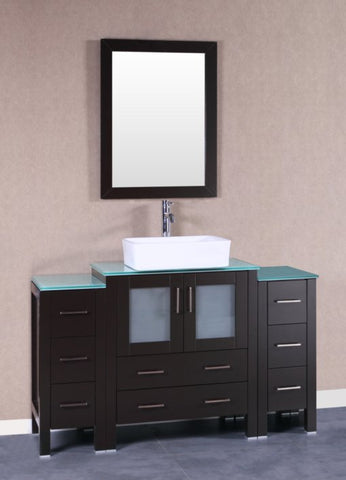 "Image of 54"" Bosconi AB130RCCWG2S Single Vanity"