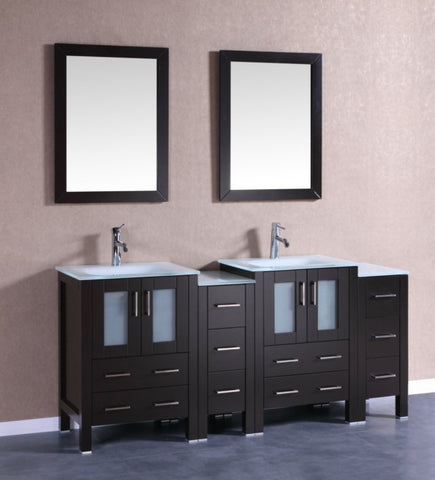 "Image of 72"" Bosconi AB224EWGU2S Double Vanity"