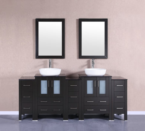 "Image of 84"" Bosconi AB224BWLBG3S Double Vanity"