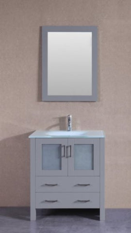 "Image of 30"" Bosconi AGR130EWGU Single Vanity"
