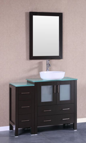 "Image of 42"" Bosconi AB130BWLCWG1S Single Vanity"