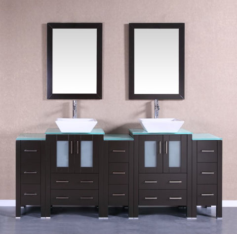 "Image of 84"" Bosconi AB224SQCWG3S Double Vanity"