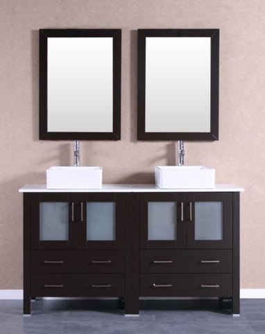 "Image of 60"" Bosconi AB230CBEPS Double Vanity"