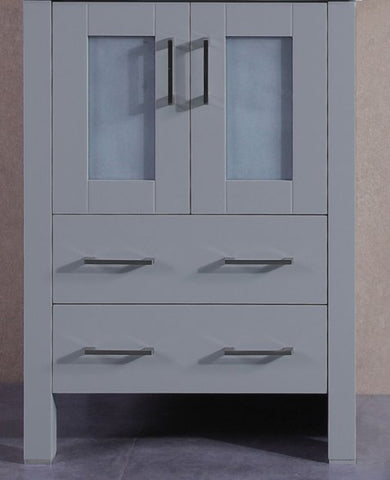 "24"" A-GR-24MC Gray Single Vanity Cabinet"