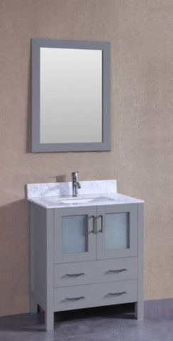 "Image of 30"" Bosconi AGR130CMU Single Vanity"