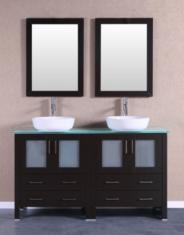 "Image of 60"" Bosconi AB230BWLCWG Double Vanity"