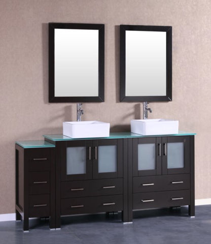 "Image of 72"" Bosconi AB230CBECWG1S Double Vanity"