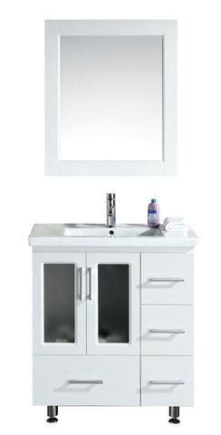 "Image of Stanton 32"" Single Sink Vanity Set with Drop-in Sink in White"
