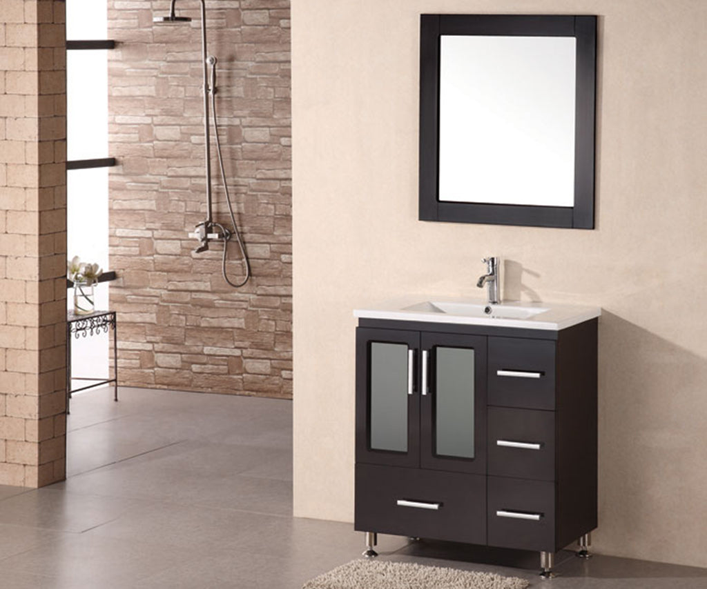 "Stanton 32"" Single Sink Vanity Set in Espresso"