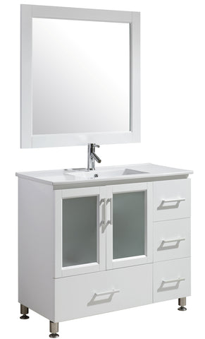 "Image of Stanton 40"" Single Sink Vanity Set in White Finish"