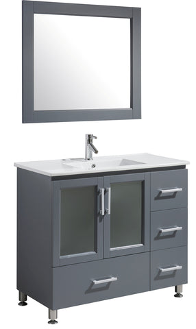 "Image of Stanton 40"" Single Sink Vanity Set in Gray Finish"