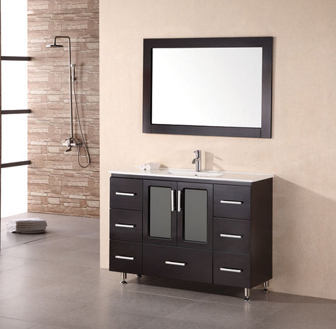 "Image of Stanton 48"" Single Sink Vanity Set in Espresso"