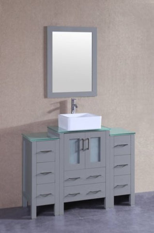 "Image of 48"" Bosconi AGR124CBECWG2S Single Vanity"