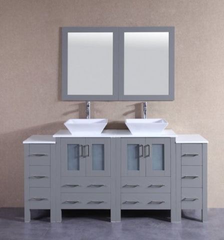 "Image of 72"" Bosconi AGR224S2S Double Vanity"