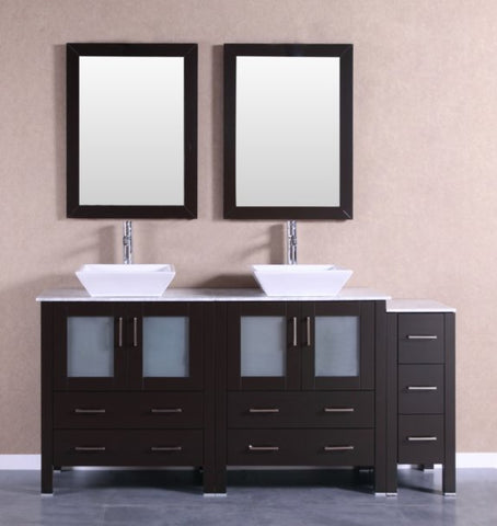 "Image of 72"" Bosconi AB230SQCM1S Double Vanity"