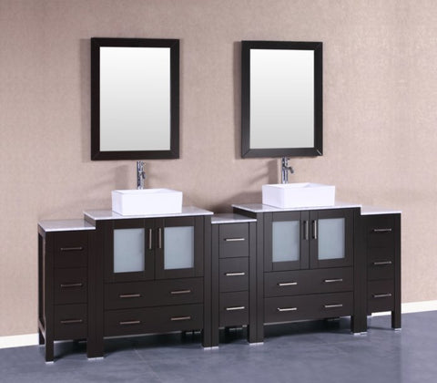 "Image of 96"" Bosconi AB230CBECM3S Double Vanity"