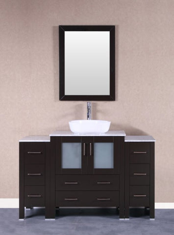 "Image of 54"" Bosconi AB130BWLCM2S Single Vanity"
