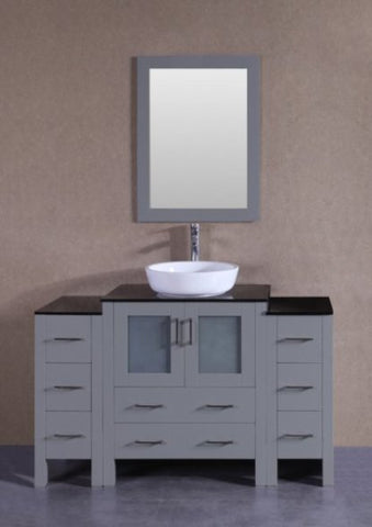 "Image of 54"" Bosconi AGR130BWLBG2S Single Vanity"