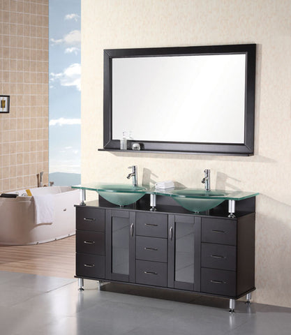 "Image of Huntington 60"" Double Sink Vanity Set in Espresso"