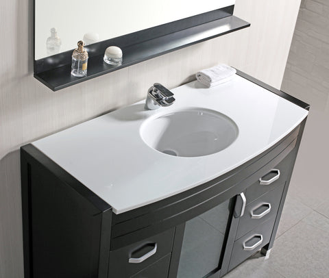 "Image of Waterfall 48"" Single Sink Vanity Set w/ White Top"