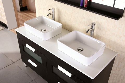 "Image of Francesca 55"" Double Sink Vanity Set in Espresso"