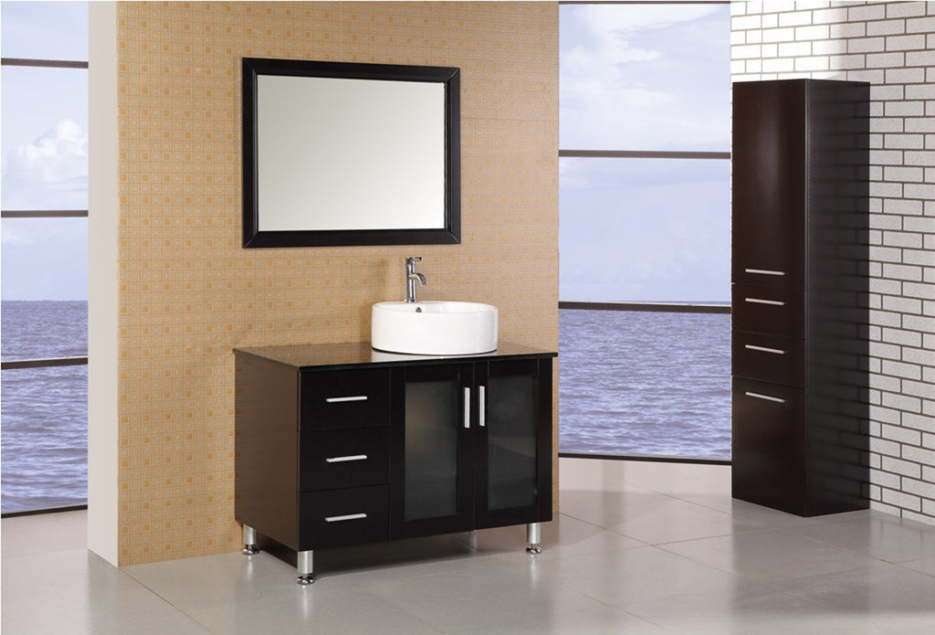 "Malibu 39"" Single Sink Vanity Set in Espresso"